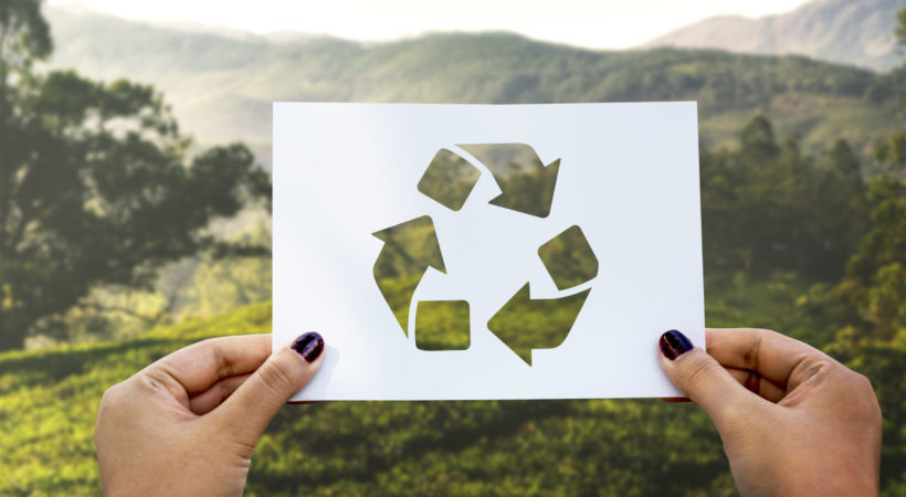 Save the world ecology environmental conservation perforated paper recycle